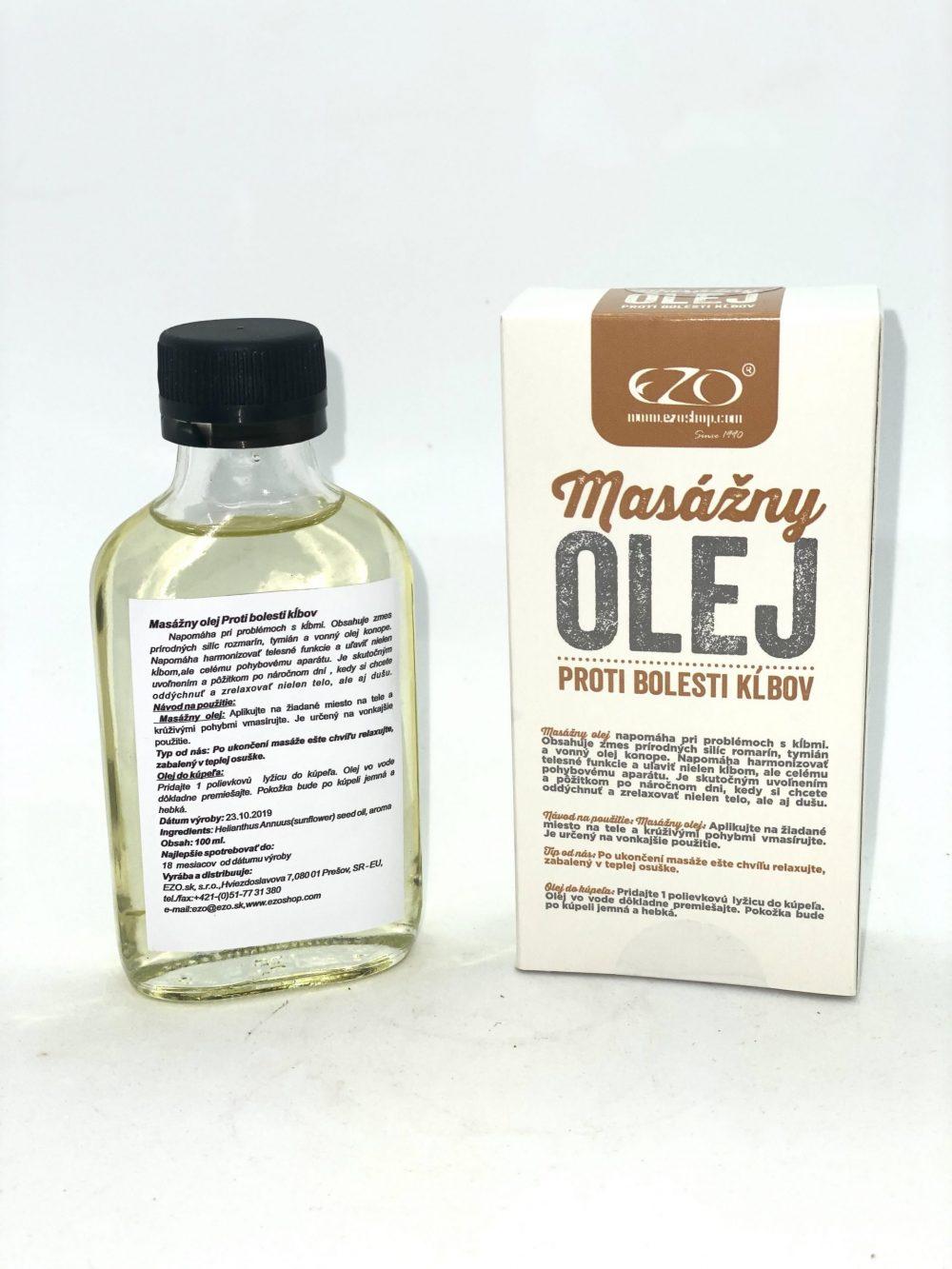 Masážny olej na bolesť kĺbov