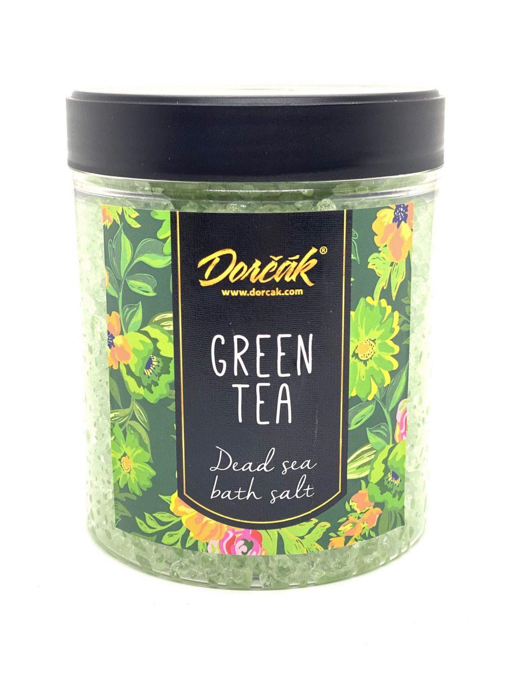 Soľ do kúpeľa z Mŕtveho mora zelený čaj