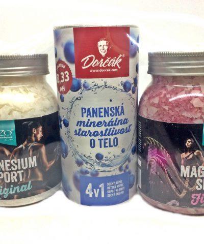 Set soľ do kúpeľa magnézium original, fitness, panenská minerálna starostlivosť
