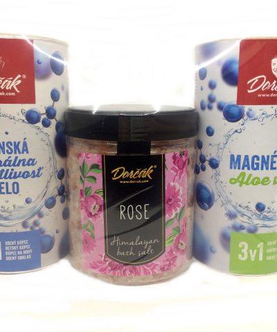 Set soľ do kúpeľa himalajska ruža, aloe vera, panenská minerálna starostlivosť