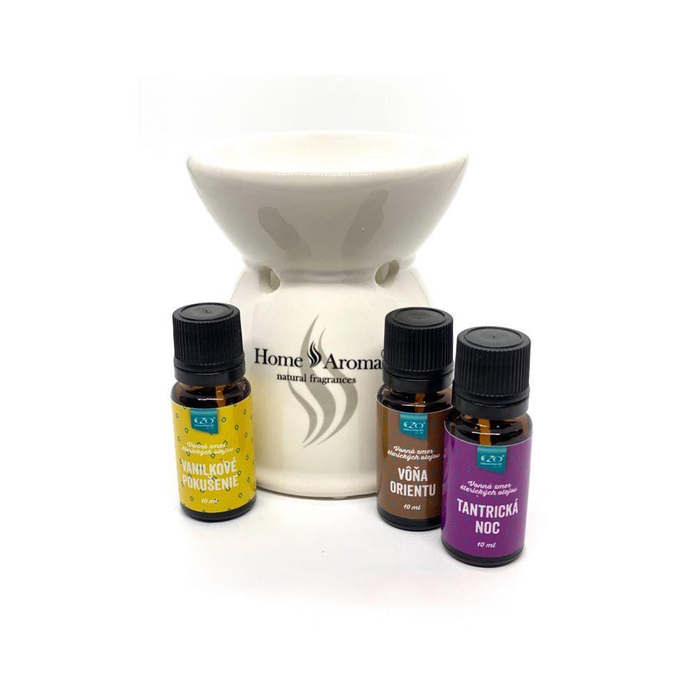 Aromaterapia Vonný olej a keramická aromalampa